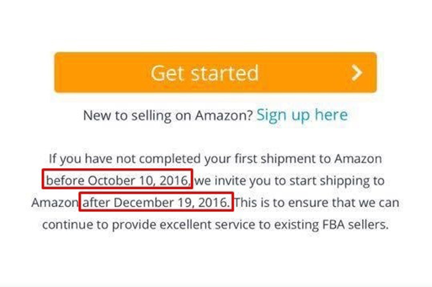 Amazon closes FBA to new sellers