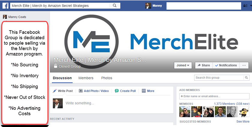 MerchElite Facebook Group