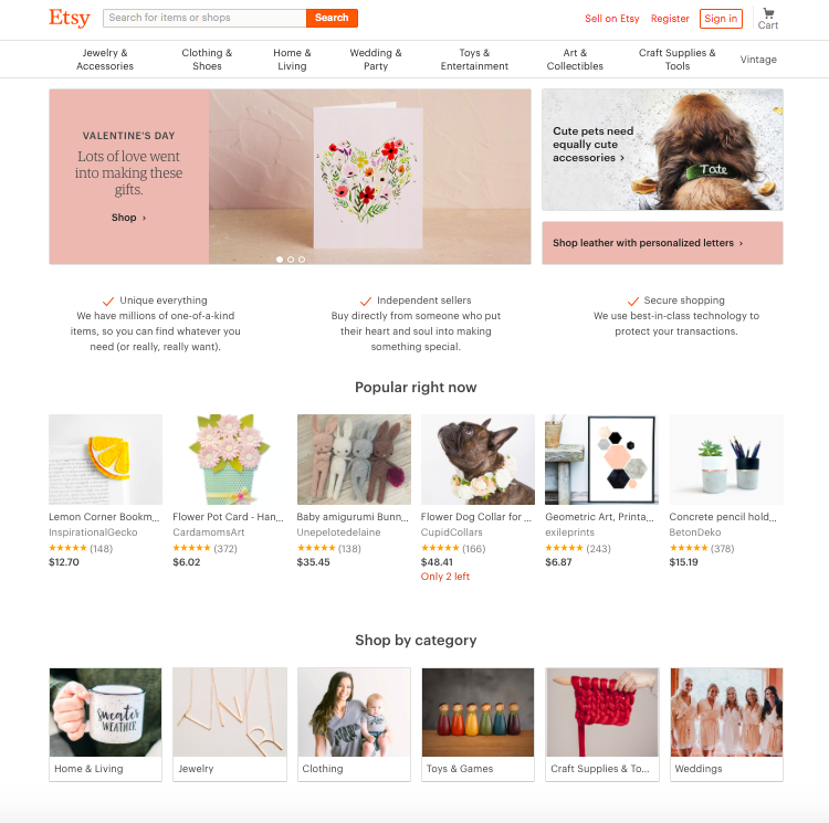 find new private label products on etsy