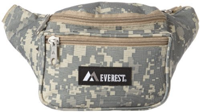 Everest Digital Camo Waist Pack, Digital Camouflage, One Size