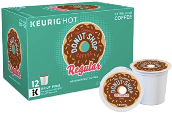 The Original Donut Shop Regular Keurig Single-Serve K-Cup Pods, Medium Roast Coffee, 12 c, Pack of 6