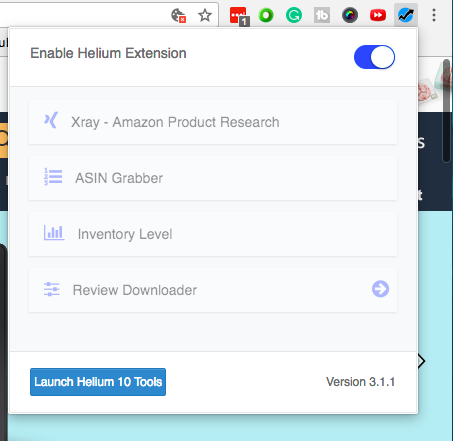 helium 10 chrome extension