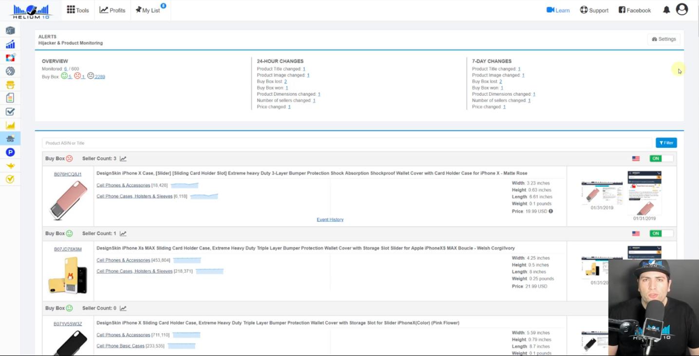 Alerts-Hijackers & Product monitoring tool