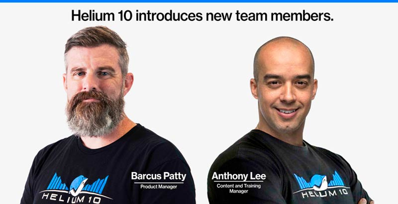 Helium 10 new hires
