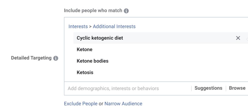 targeting based on interest