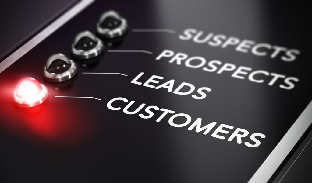 List of words Suspects, Prospects, Leads, Customers with
