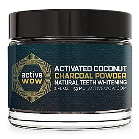 *Active Wow Teeth Whitening Charcoal Powder Natural