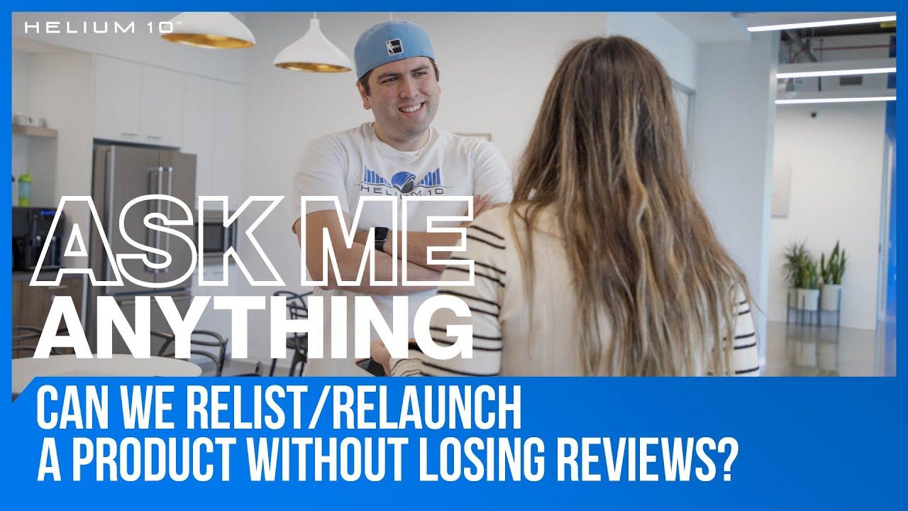 amazon relaunch product