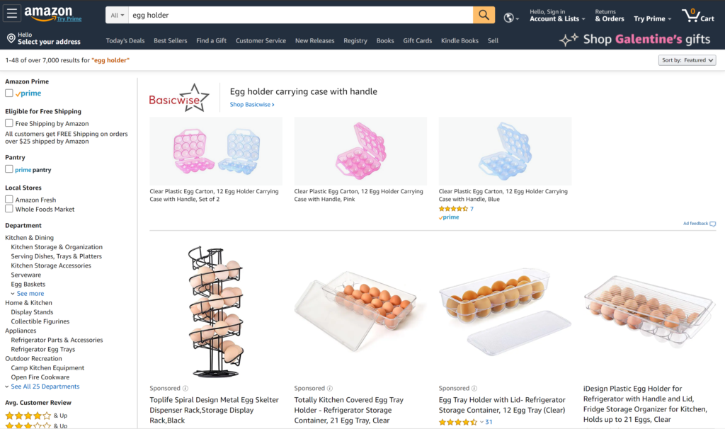 Amazon product page