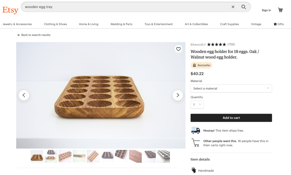 Etsy products
