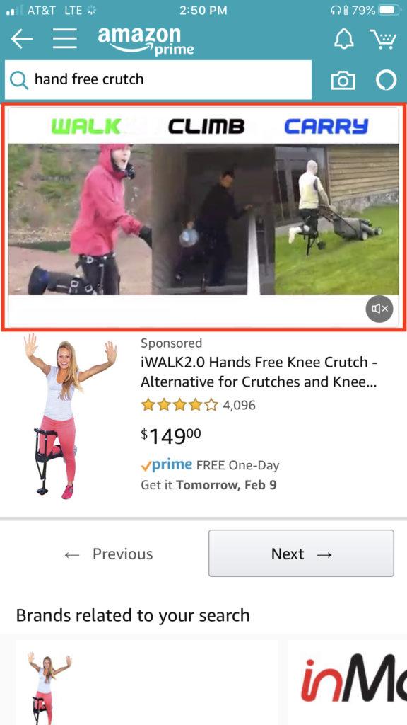 hand free crutch