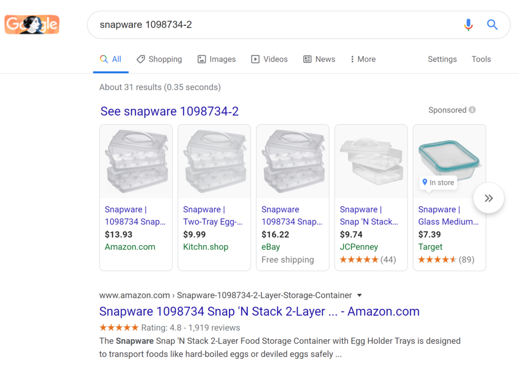 snapware product search