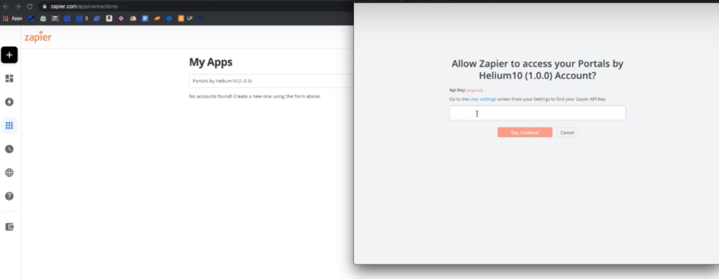 Integration of Zapier with portals