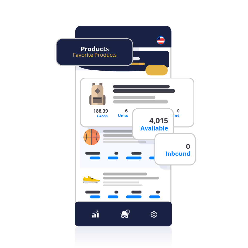 Mobile app for amazon fba seller