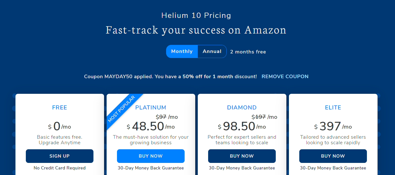 Helium 10 coupon code - buy now