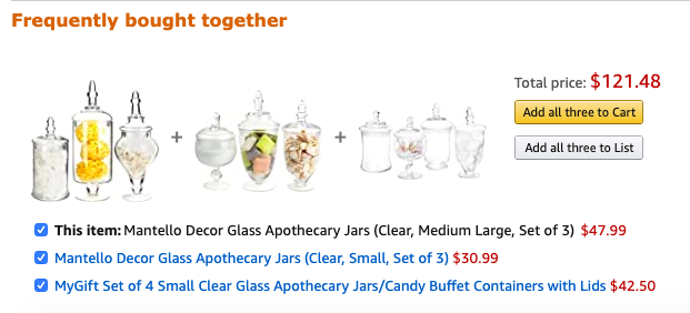 products frequently bought together