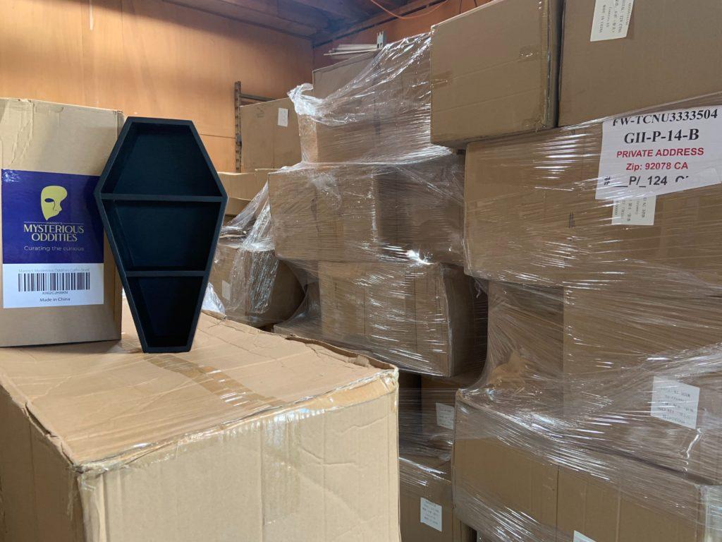 coffin shelves