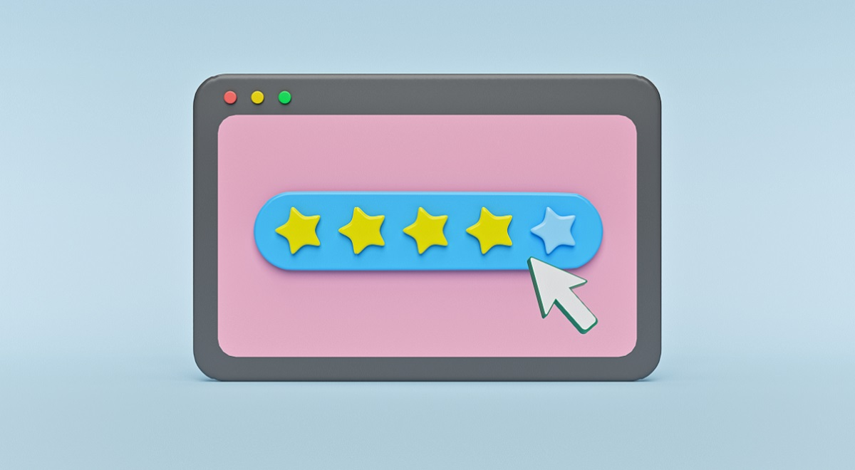 Amazon product star reviews on computer