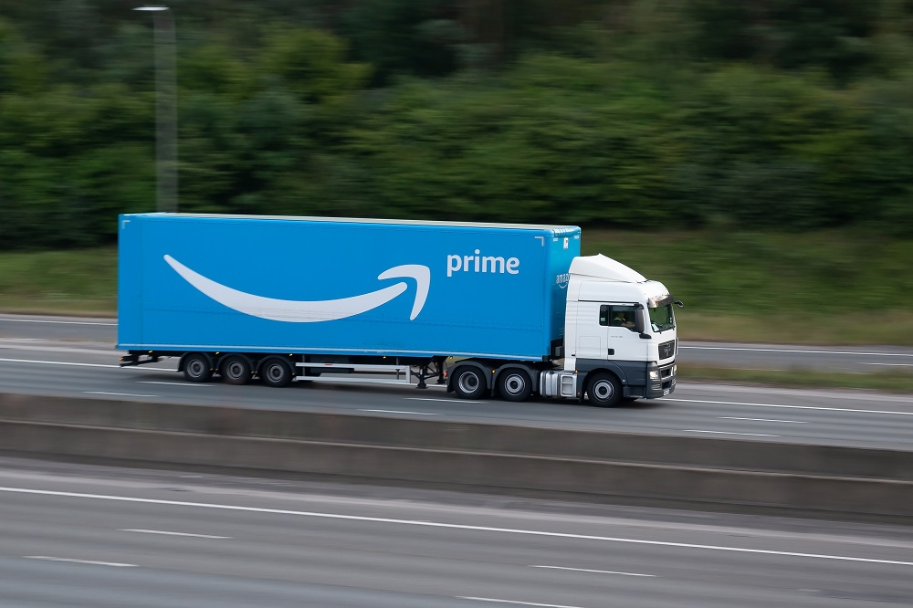 amazon prime delivery by truck