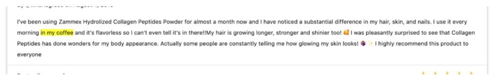 amazon customer review