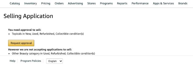 selling application on amazon