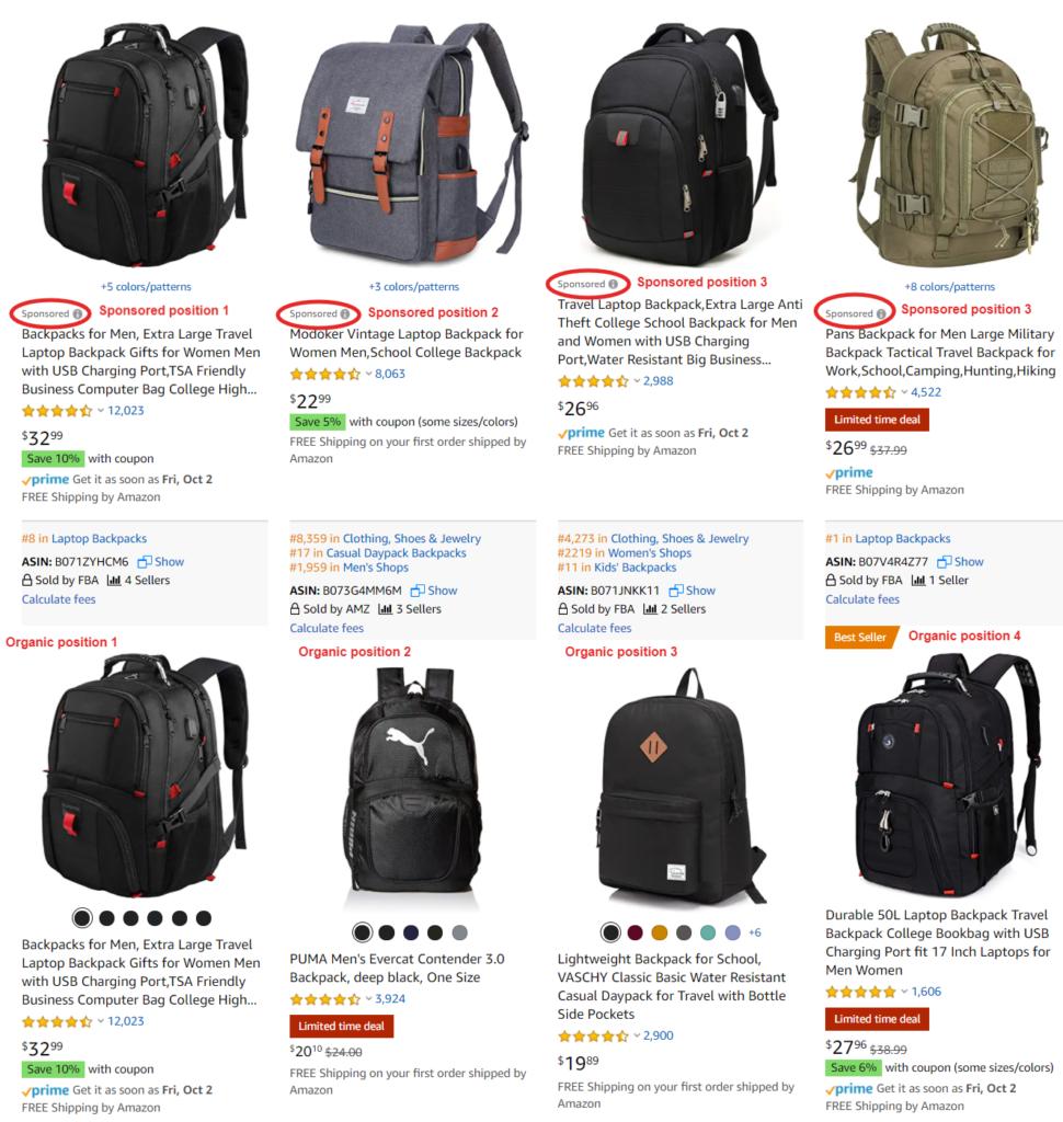 amazon product ranking