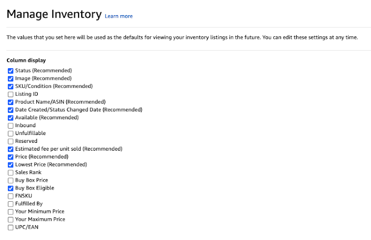 manage amazon inventory