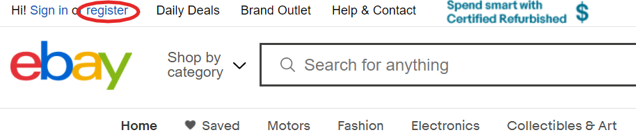ebay seller account