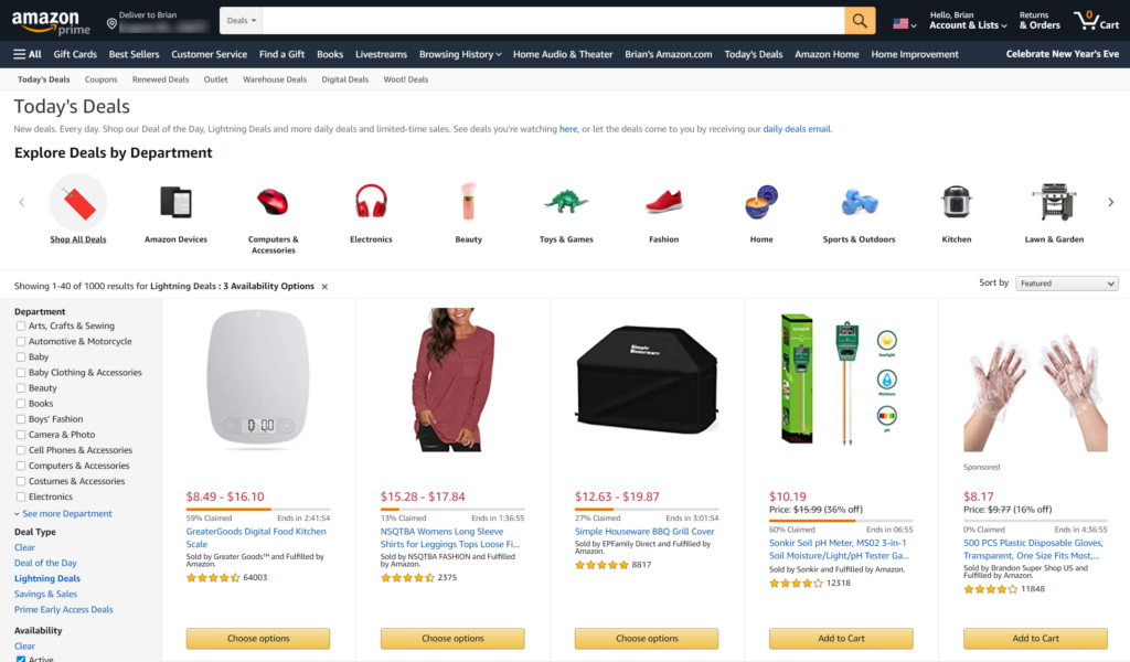 What are Amazon Lightning Deals?