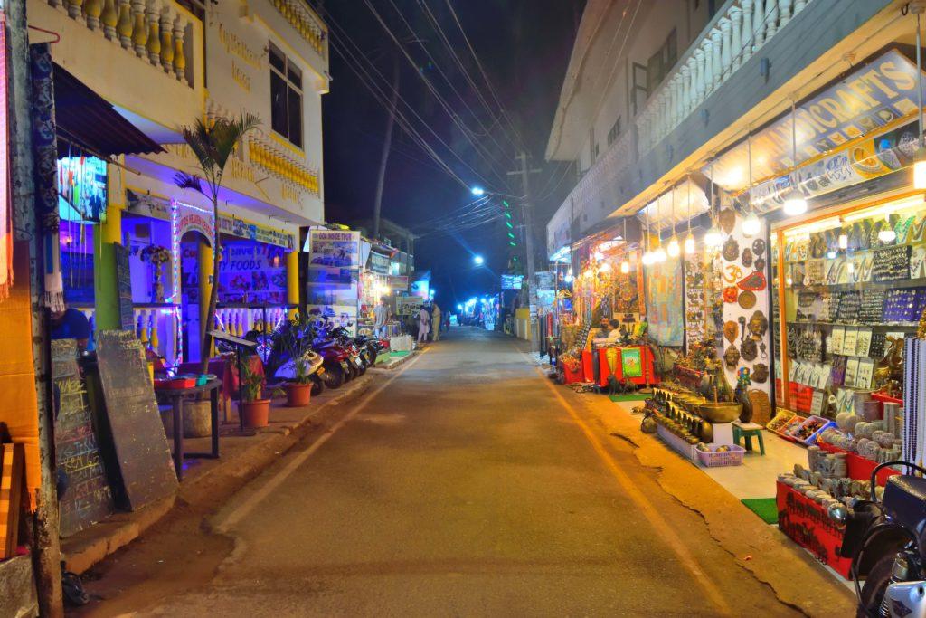 Street lined with kirana shops