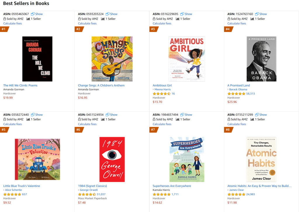 amazon best sellers in books