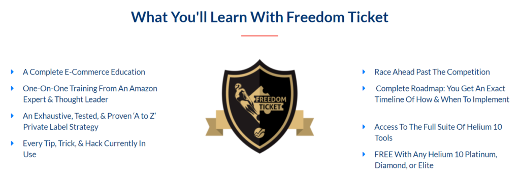 freedom ticket - amazon fba course