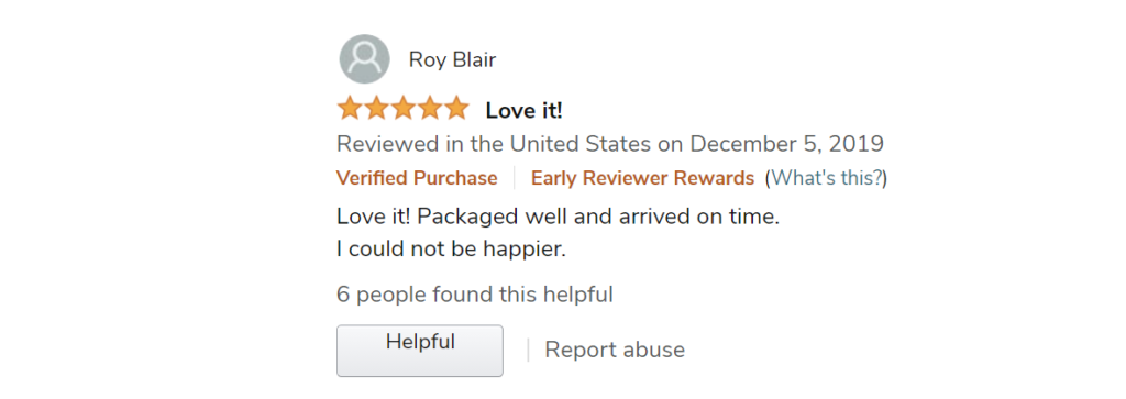 Early Review from Amazon