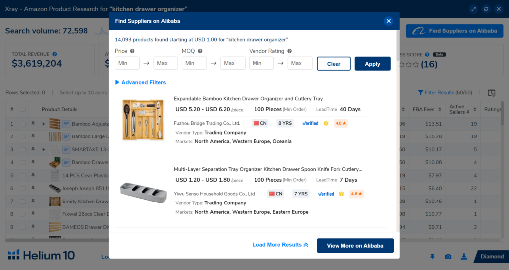 amazon product research tool