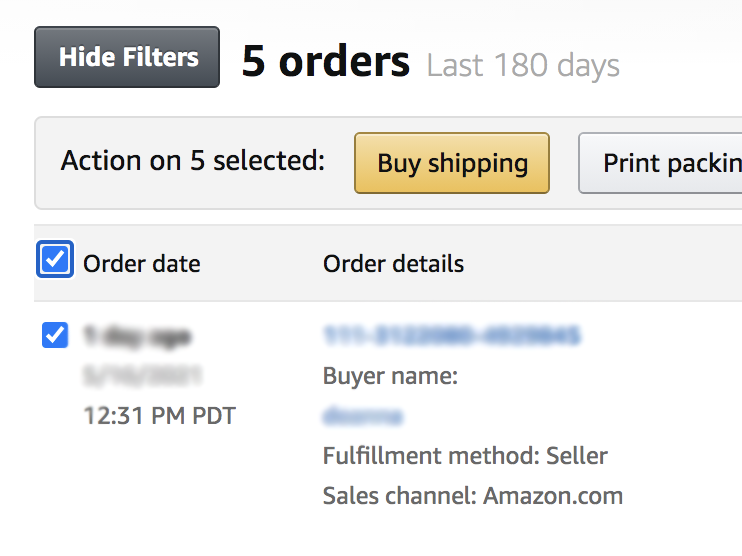 amazon shipping with FBM
