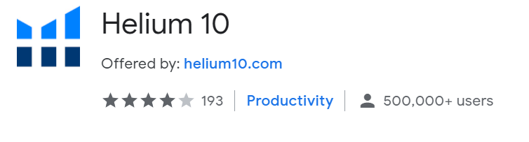 helium 10 chrome extension