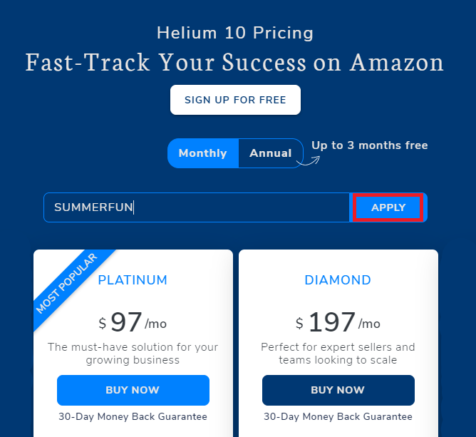 Helium 10 50% off coupon code