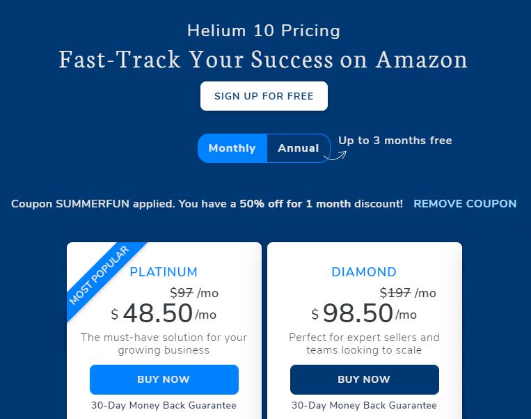 Helium 10 promo code