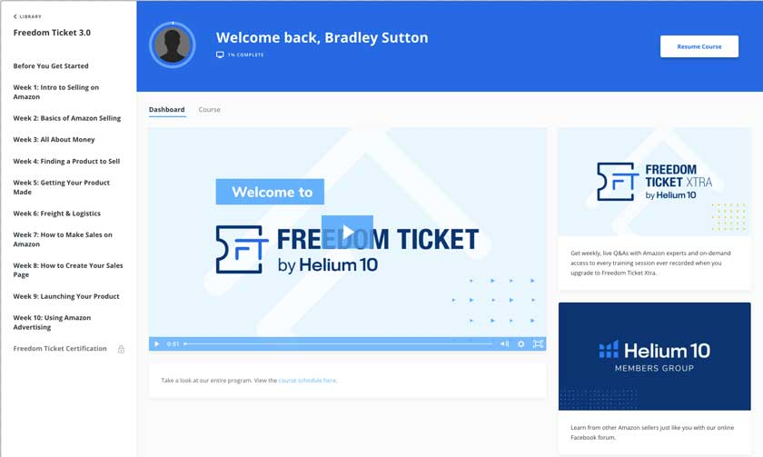 Freedom Ticket Dashboard