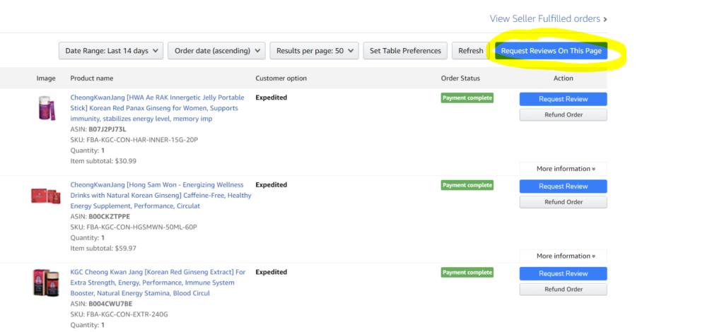 Helium 10 Seller Assistant Chrome Extension To Bulk Request Reviews