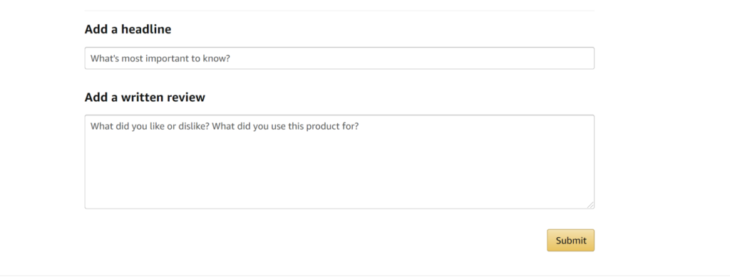 leaving amazon product review